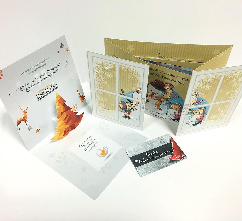 So entstehen kreative Weihnachtskarten für Unternehmen